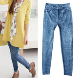Women denim casual stretchy Jeggings skinny blue pants