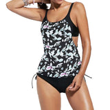 Women Tankini Set Padded Swimsuit Plus-Size Beachwear