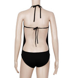 Women Monokini Black One-Piece Bikini Swimsuit Swimwear Beachwear