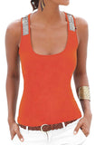 Womens tank top rhinestone cami lace shirt, women sports gym yoga