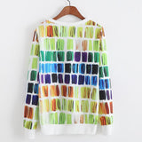 Women`s sweatshirt digital printed pullover long sleeves one size fits all