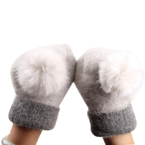 Women winter gloves warm wool mittens for woman