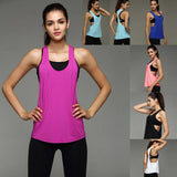 Womens workout tank top cami shirt, women sports gym yoga ladies loungewear