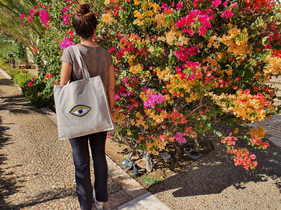 Beach Bag Eye - MINE BAGS AND ACCESSORIES - MIRA Y MANO
