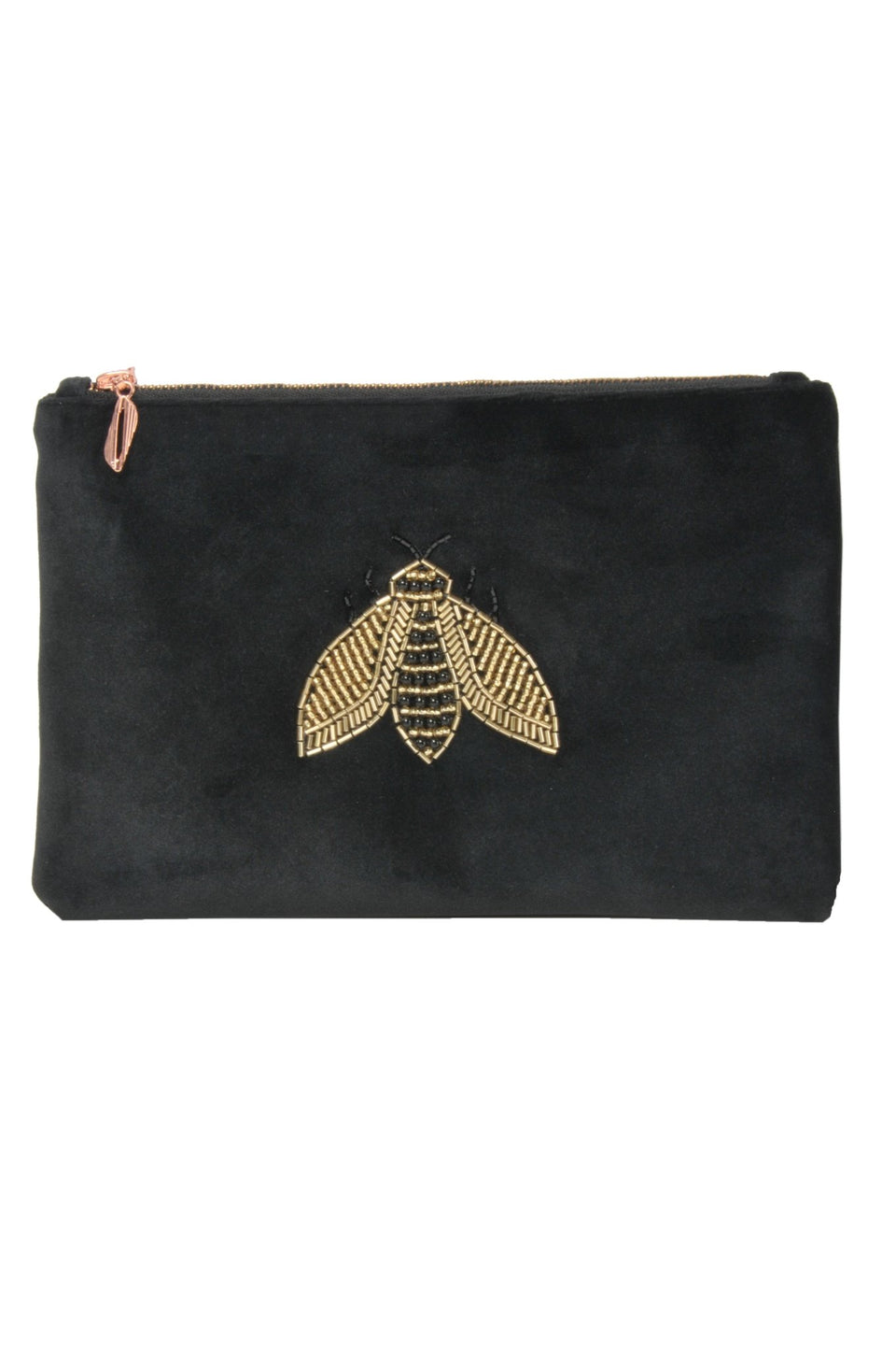 Gold Bee Beaded Pouch - MINE BAGS AND ACCESSORIES - MIRA Y MANO