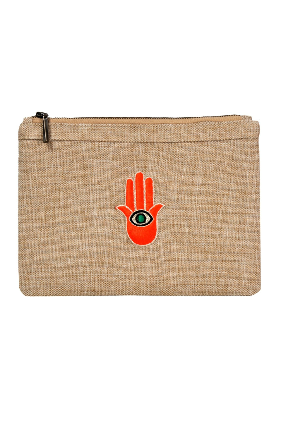 POUCH ORANGE HAND - MINE BAGS AND ACCESSORIES - MIRA Y MANO