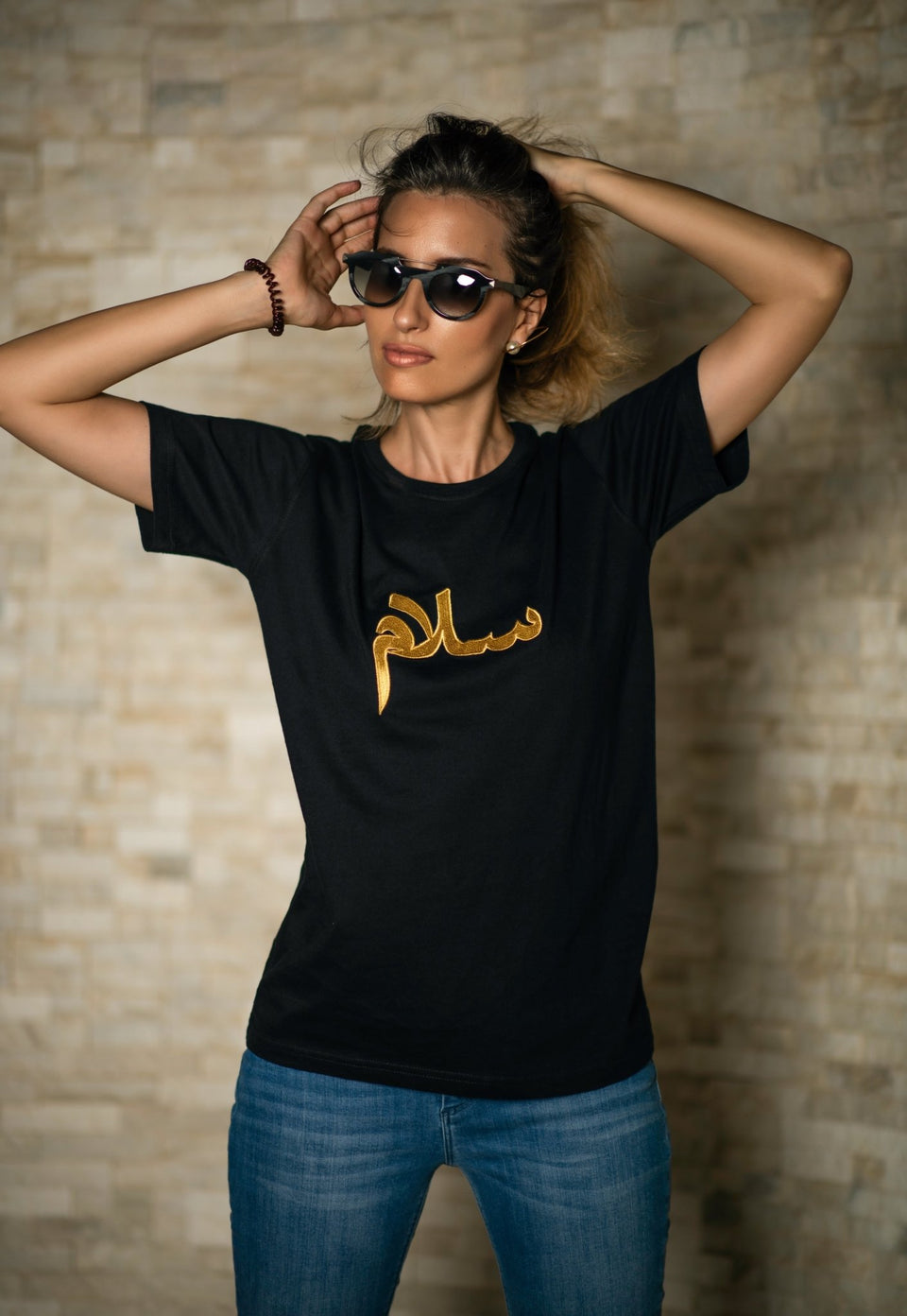 SALAM BLACK T SHIRT - MINE BAGS AND ACCESSORIES - MIRA Y MANO