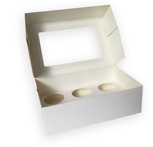 Cupcake Box 6-hole Rectangle with Window (C02)