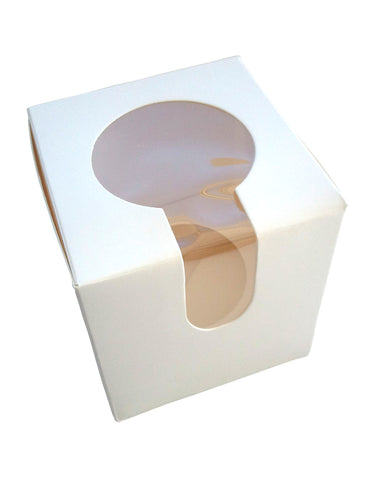 Single Cupcake box 1-hole with top & side window (C14)