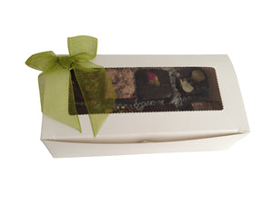 Pastry Rectangle Small Chocolate Box / Macaroon Macaron Box with Window (G09) - $0.40ea