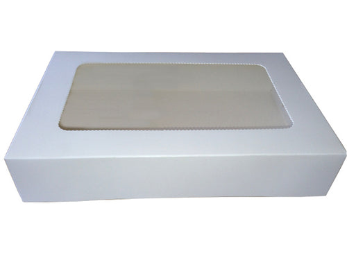 Pastry Rectangle Lamington Cake Tray Cookie Box with Window (G13)