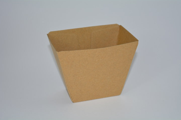 Kraft Corrugated Cardboard Burger Cup / Chip Cup Eco (KCCup) - 25pcs