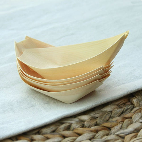 Pine canapes dish fingerfood disposable bowl (PCD)