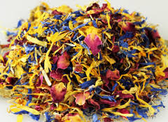 mixed flower petals edible flower petals