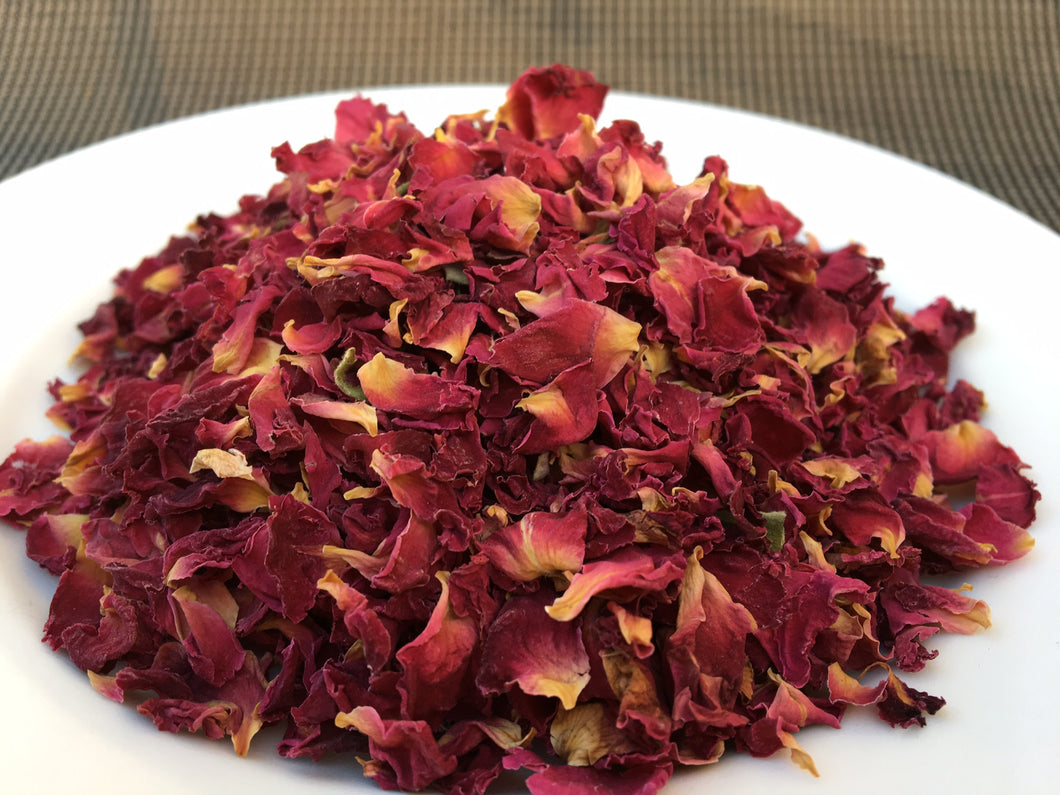 edible red rose petals biopackaging