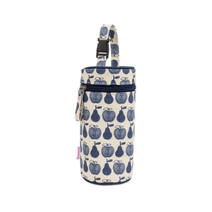 Bottle Holder Navy Apples & Pears
