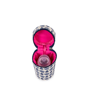 Pink Lining baby bottle holder, a baby travel essential to accessorise with a matching Apples & Pears baby changing bag