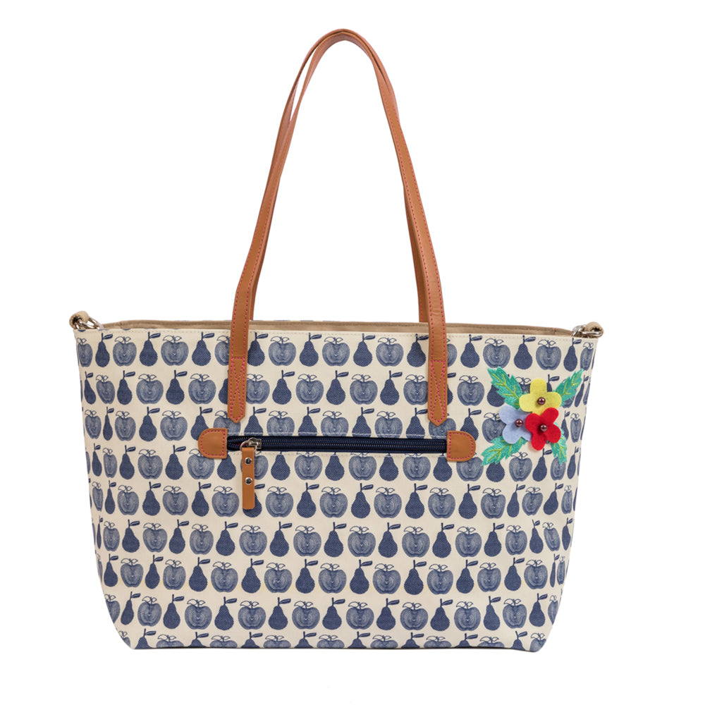 873839dae73f Notting Hill Tote Navy Apples   Pears Changing Bag