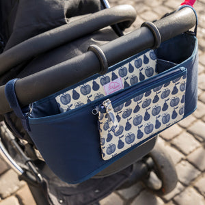 Pink Lining Apple and Pears stroller organiser