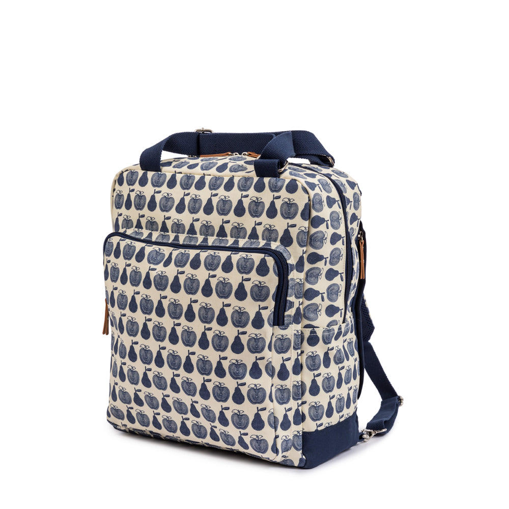 dbdf1d9376 The Wonder Bag Rucksack Navy Apples & Pears Changing Bag | Pink Lining