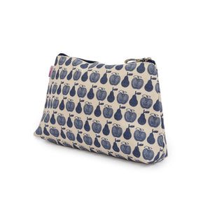 Wash Bag Navy Apples & Pears