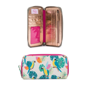 BLOOMING GORGEOUS- PARROT CREAM incl- Wash Bag, Bottle Holder, Wallet - BUNDLE