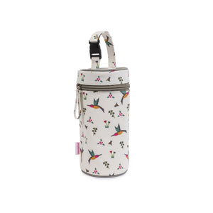 Insulated baby bottle holder, Hummingbird insulated baby bottle holder, inside look