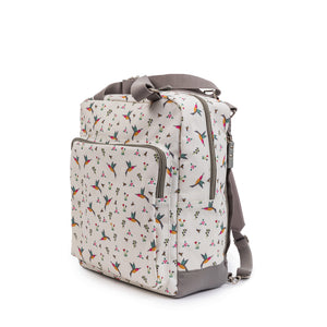 Changing bags Pink Lining Wonder bag Hummingbird print