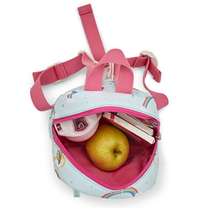 Pink Lining Unicorn Children's backpack with reins