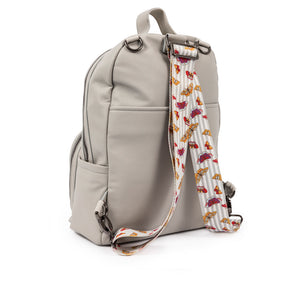 Pink Lining vegan leather Shoreditch Grey backpack