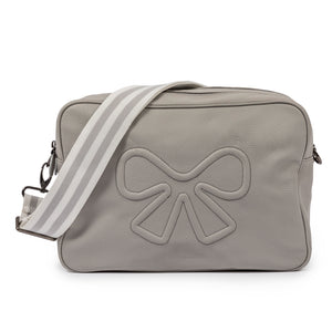 Pink Lining Hoxton Grey vegan leather cross body changing bag