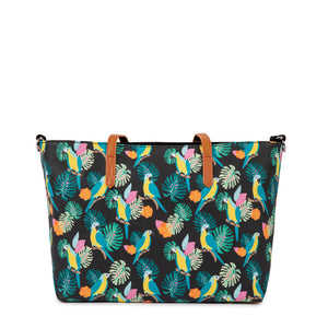 Baby changing bag Pink Lining Nottinghill Tote parrot design