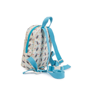 Pink Lining Children's puffin mini rucksack with reins