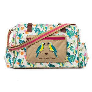 Twice As Nice Twin Bag - Parrot Cream