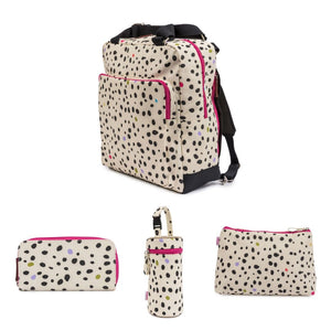 WONDER BAG - DALMATIAN FEVER Bundle  incl: Wash Bag, Bottle Holder, Wallet