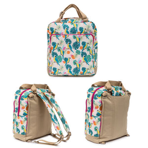WONDER BAG - PARROT CREAM  Bundle  incl: Wash Bag, Bottle Holder, Wallet