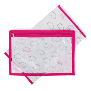 Pink Lining Yummy Mummy Navy Bows Baby Changing Bag