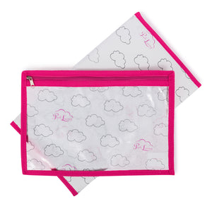 Pink Lining Parrot Twin baby changing bag