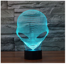 Alien 3D LED Light - Changes into 7 Colors