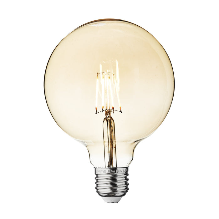 Vintage LED Edison Bulb Old Filament Lamp - 5W E27 Globe G125