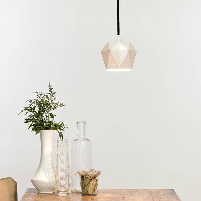 Triangular Pendant Light in Porcelain