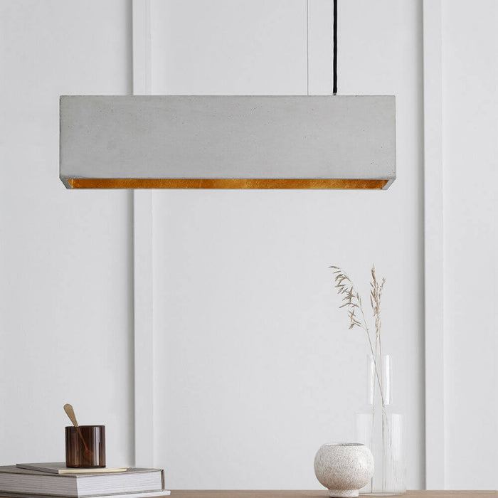 Rectangular Concrete Pendant Light