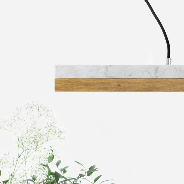 Marble & Oak Bar Pendant Light