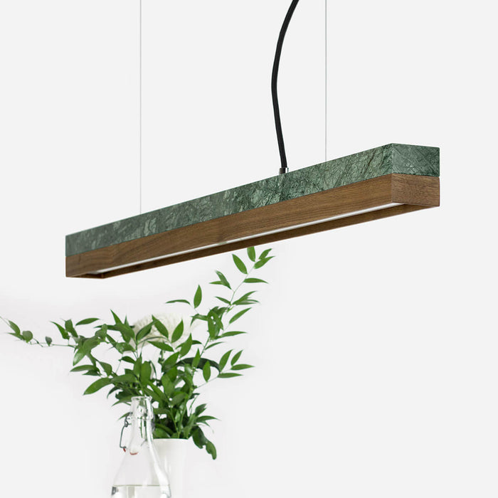 Marble & Walnut Bar Pendant Light