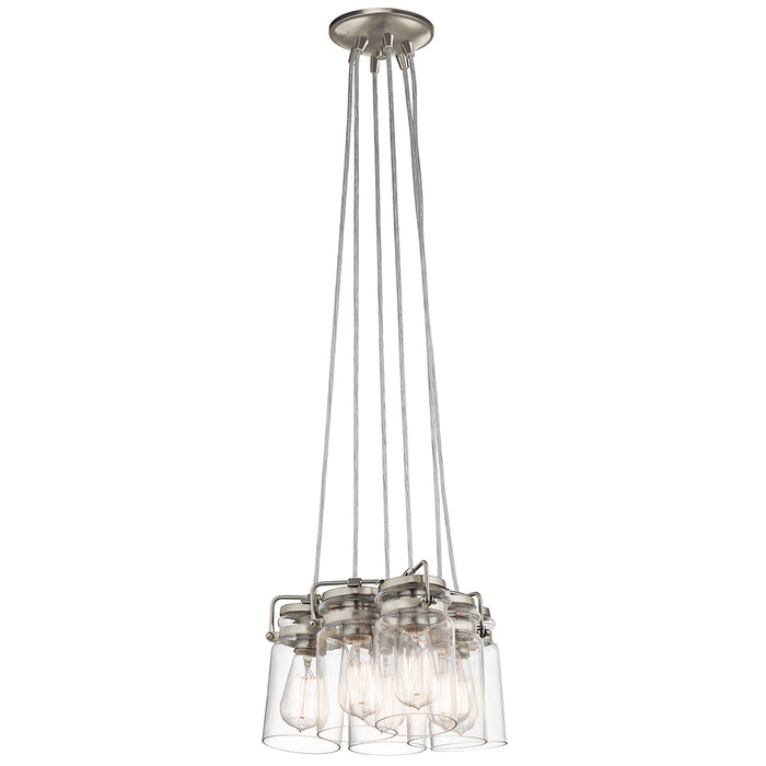 Brinley 6 Light Pendant in Brushed Nickel