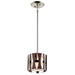 Single Light Pendant Ceiling Light in auburn stained wood finish