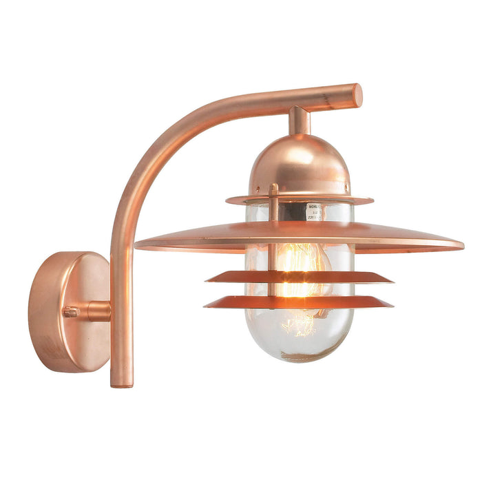 Oslo Outdoor Wall Lantern Copper