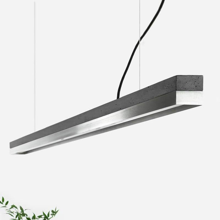 Concrete & Stainless Steel Bar Pendant Light