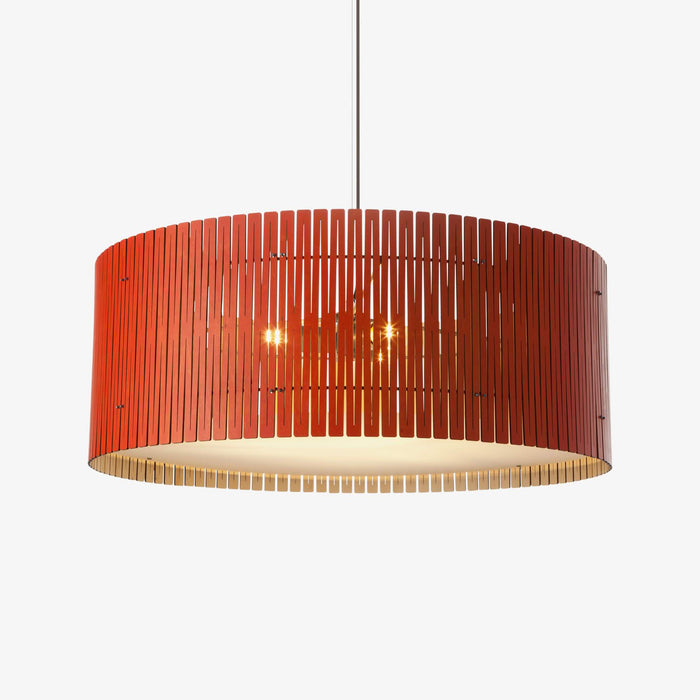 red birch plywood drum pendant light