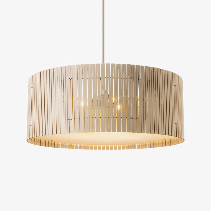 white birch plywood drum pendant light